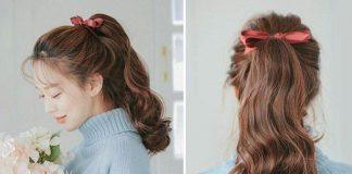 cách cột tóc dễ thương đi học