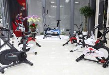 cửa hàng bán xe đạp tập thể dục